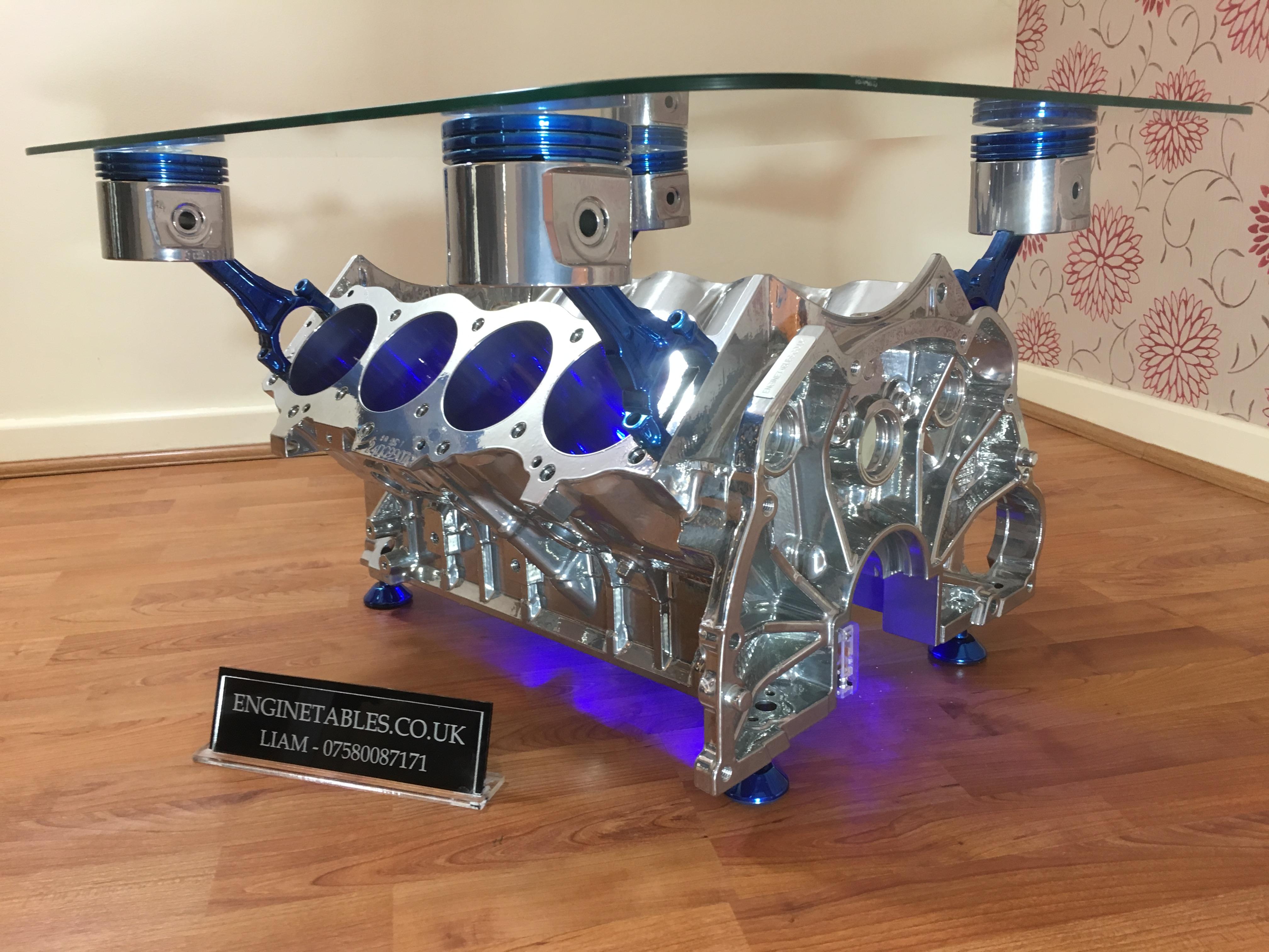rover v8 blue pistons