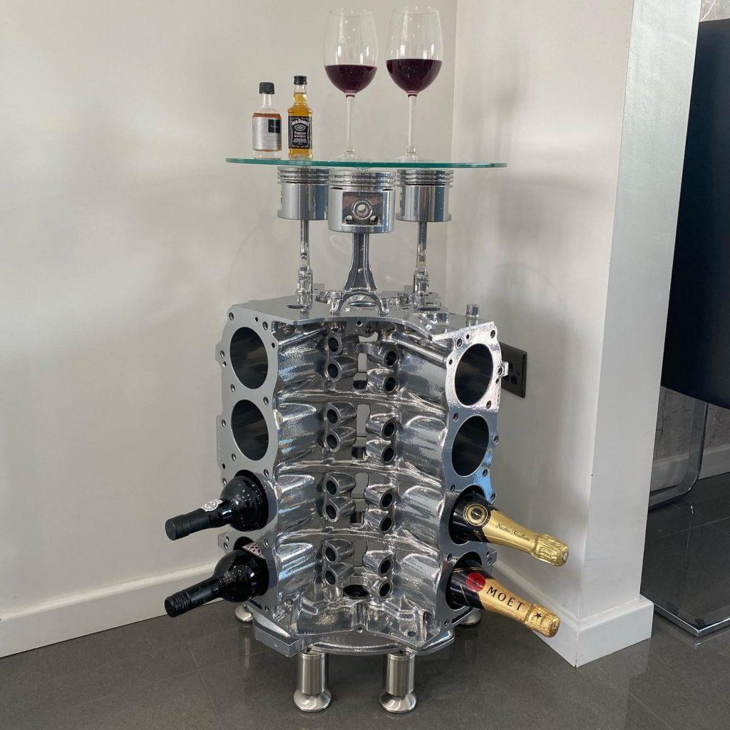 rover v8 wine rack dressed a